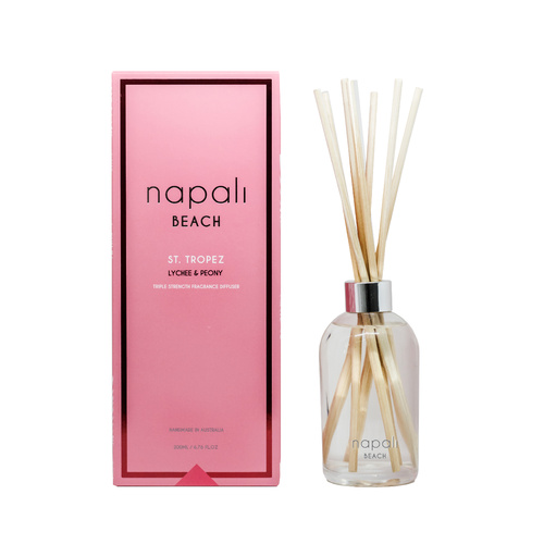 St. Tropez - Lychee & Peony - Reed Diffuser